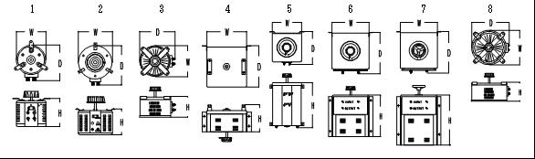 電圧調整器外形①